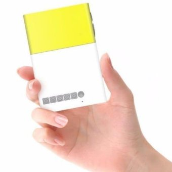 Harga Mini Pocket LED Projector (Yellow)