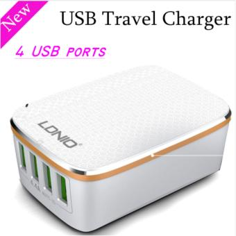 Harga LDNIO A4404 4.4A 4 USB Port Travel Charger adapter