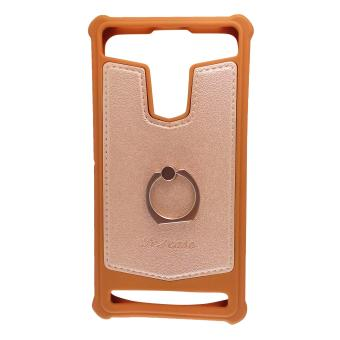 Harga FCH Bumper Silicone Back Cover Case with Ring for Sony Xperia Z3 Compact (Brown)