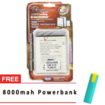 MSM HK Battery for Cherry Mobile CM-11C FLARE XL WITH FREE 8,000 MAH POWERBANK Price Philippines