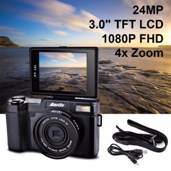 "Amkov 24MP Digital Camera FHD 1080P Video 3"" LCD Camcorder with UV Filter - intl Price Philippines"