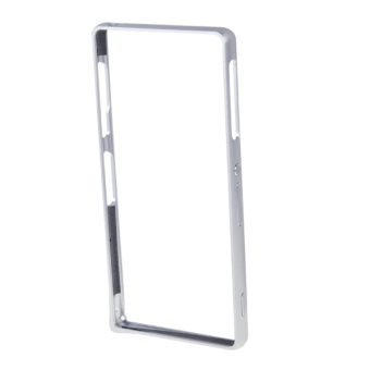 Harga LOVE MEI Curved Metal Bumper Frame Case for Sony Xperia Z3 (Silver) - intl