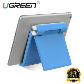 Harga UGREEN Multi-Angle Universal Mini Foldable Desk Stand Holder for All Tablets and Large Phone – Blue