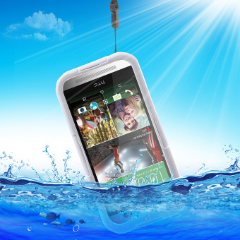 Heavy Duty IP-68 Waterproof Cover for HTC One M9 / M8 / M7 - White - intl Price Philippines