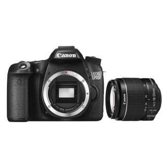 Canon EOS 70D 20.2MP DSLR Camera Body(Black) + 18-55MM IS STM