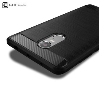 Harga Cafele Anti-Oil Anti-Fingerprint Protective Back Cover Skin For Xiaomi Redmi Note 4(Black) - intl