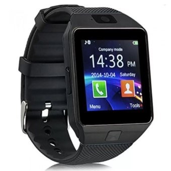 Harga Smart Watch Phone With Sim Card Slot (Black)