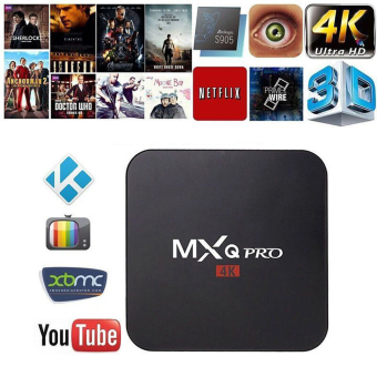 Harga niceEshop MXQ Pro Amlogic S905 Quard Core Tv Box Android 5.1 Smart TV Box 1080p HDMI 4k Streaming TV Box(UK Plug) - intl