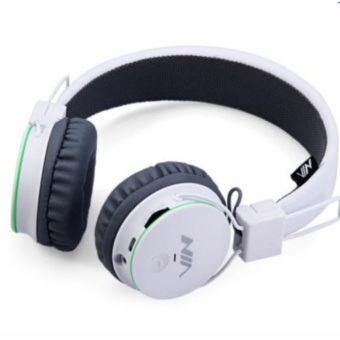 NIA X2 Superb Sound Collapsible 108dB Bluetooth Headset with FM Radio and TF/AUX Slot (White) Price Philippines