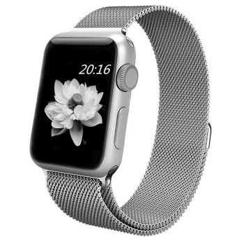 Harga top4cus Milanese Magnetic Loop Stainless Steel Strap Watch Bands For Apple Watch iWatch Series 1 and 2 -- 38MM(Silver)