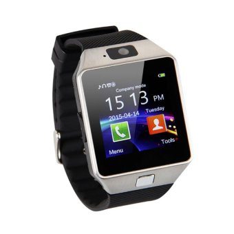 Harga Smart Watch Phone With Sim Card Slot (Silver/Black)