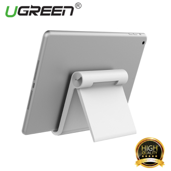 Harga UGREEN Multi-Angle Universal Mini Foldable Desk Stand Holder for All Tablets and Large Phone – White