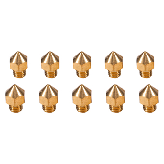 10pcs M6 Thread Brass Nozzle for 1.75mm Filament 3D V5&V6 Printer Parts Head Accuracy 0.4mm - intl Price Philippines