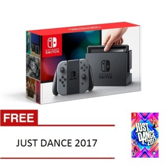 Harga Nintendo Switch with Gray Joy‑Con with Free Just Dance 2017 Game