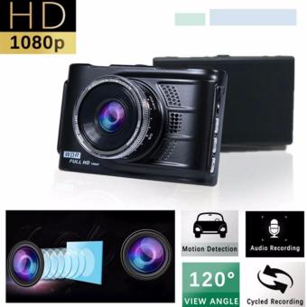 Harga Car Cameras HD Car DVR Car Camera Video Recorder Dash Cam Camcorder (Black)