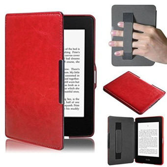 Harga PU Leather Folio Case Cover For Amazon Kindle Paperwhite (Red)