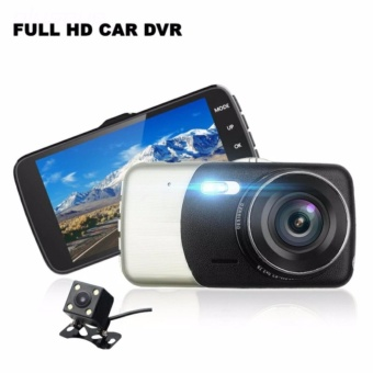Harga LGB50 Dual Camera 1080P Car CCTV Dashcam With Back Cam