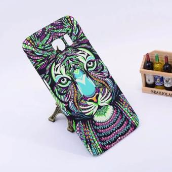 Harga LUXO animal print iglow hard case for Samsung s7 edge(green tiger)