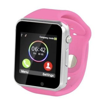 Harga Smart Phone IOS Style Smart Watch (Pink)