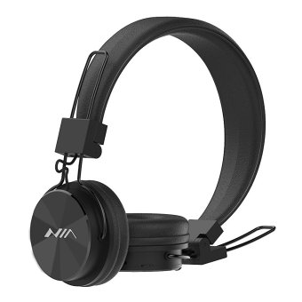 NIA X3 Wireless Bluetooth Over-the-Ear Stereo Headset with Microphone, FM Radio, Micro SD Player, AUX for iPhone, Samsung Galaxy, Android (Black) Price Philippines