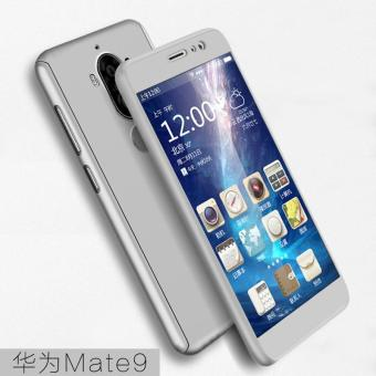 Harga 360 Full Cover Phone Case for Huawei Mate9 Plated Frosted Phone Cover + Tempered Glass Film (Silver) - intl