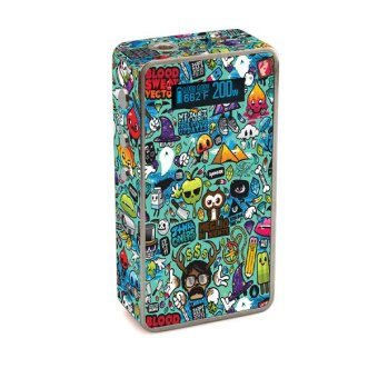Harga Oddstickers Doodle Pattern 6 Vape Skin Cover for Snow Wolf 200W Box Mod