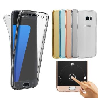Harga PETREL 360�� Full Body Protect Soft Silicone Case Front + Back Cover for Samsung Galaxy S6 edge Plus - intl