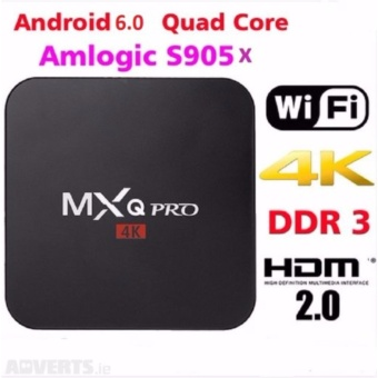 Harga MXQ Pro ( New android 6.0 ) 4K Ultra HD android TV Box Wireless Wifi Quad Core
