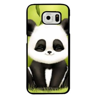 Harga Lovely Panda Carton Phone Case For Samsung Galaxy S6 Edge Plus(Multicolor) - intl