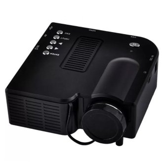 Harga S4 LCD Image System Multimedia LED Projector (Black)