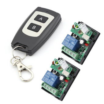 eMylo DC 24V One Transmitter with 2X 1 Channel Smart Wireless Remote Control Switch Inching Self-locking Black Type Transmitter Price Philippines