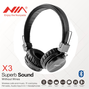 Nia NIA-X3 4 in 1 Bluetooth Stereo Headset (Black) Price Philippines
