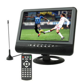 SUNSKY 9.5 inch TFT LCD Color Analog TV with Wide View Angle Support SD/MMC Card, USB Flash disk, AV In/AV Out, FM Radio (Black)