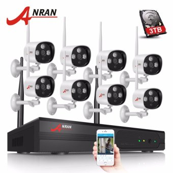 ANRAN Auto-Pair 8CH Wifi NVR Mini Bullet 8PCS 1080P Wireless Camera CCTV System HD Wifi Waterproof Night Vision Surveillance Kit - intl Price Philippines