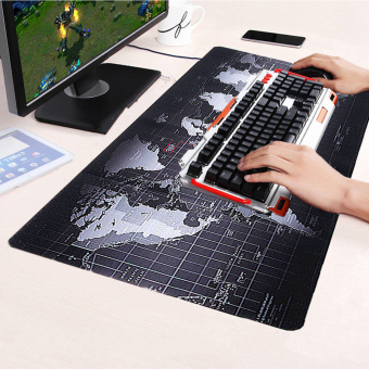 Large Size Non-Slip World Map Speed Game Mouse Pad Gaming Mat for Laptop PC - intl Price Philippines