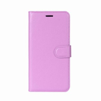 Leather Flip Cover Protective Case For Alcatel U5 (Purple) - intl Price Philippines