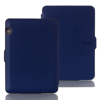 Harga Smart Ultra Slim Magnetic Case Cover For Amazon Kindle Voyage 2014 Dark Blue - intl