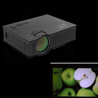 QF Unic UC46 1200 Lumens WIFI Portable LED Projector (Black) with LHR VGA to HDMI Cable Adapter Price Philippines