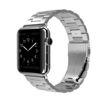 Harga Apple Watch Band Stainless Steel Metal Watch Strap Replacement Bracelet for Apple iWatch 42mm - intl