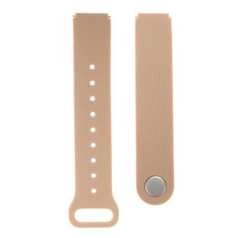 Harga VAKIND Silicone Rubber Smart Watch Strap for Huawei Talkband B3 (Khaki)