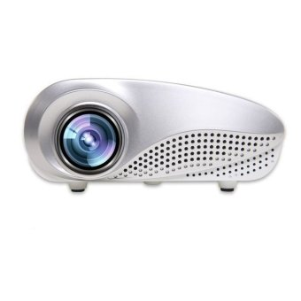 Harga Mini Home Multimedia Cinema LED HD Projector Support AV TV VGA USB HDMI SD White