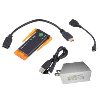 Harga OH CX919 II RK3188 Quad Core Android 4.4 MINI PC Smart TV Box Dual WIFI TV Stick (Black/Orange) - Intl
