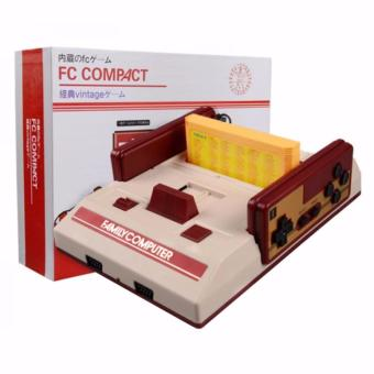 Harga Family Computer FC Compact Vintage Game Console Built in 100 Games and 132 in1 Game Cartridge (Red/Off-White)