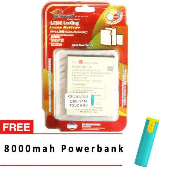 Harga MSM HK Battery for Cherry Mobile CM-11N TOUCH HD WITH FREE 8,000 MAH POWERBANK