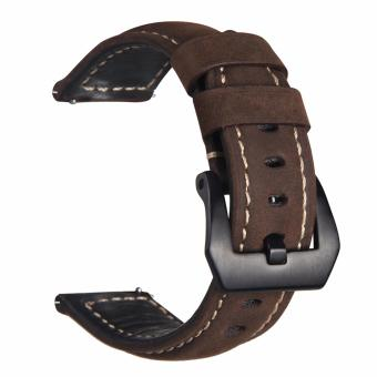 Samsung Gear S3 S2 Premium Leather Watchband Bracelet Strap for Samsung Gear S3 S2 (Reddish Brown) Price Philippines