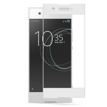 Harga PopSky Silk Screen Full-Screen Tempered Film For Sony Xperia XA1 Ultra(White) - intl