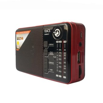 Harga Nuvos Compact Portable AM/FM Radio (Red)