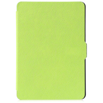 Harga Leather Smart Cover for Amazon Kindle Paperwhite 1 / 2 / 3 (Green)--TC