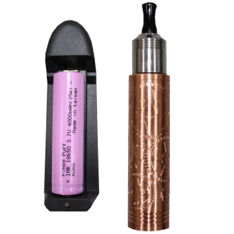 smok steampunk Mechanical Copper Mod wit RDA atomizer ecig kit free battery and charger (Gold) Price Philippines