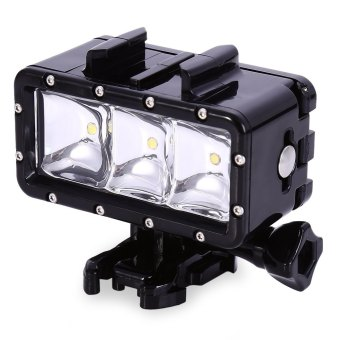 2.8W 300LM Flash LED Diving Light Waterproof Video Lamp BLACK Price Philippines